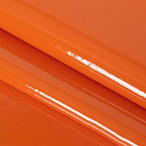 ZSYGFS Tela De Cuero Sintético De Polipiel 138 Cm De Ancho Vendido por Metro para Muebles Sofás Sillas Manualidades(Color:Naranja)