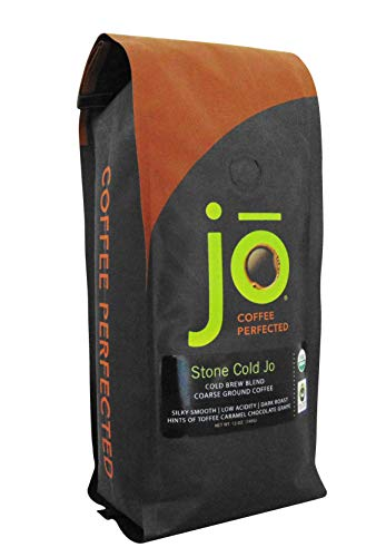 STONE COLD JO: 12 oz, Cold Brew Coffee Blend, Dark Roast, Coarse Ground Organic Coffee, Silky,...
