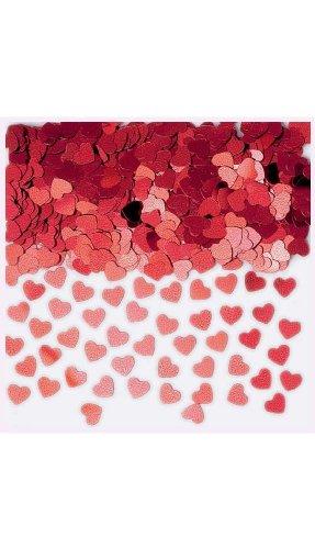 amscan International Confettis métalliques Sparkle Coeurs, Rouge