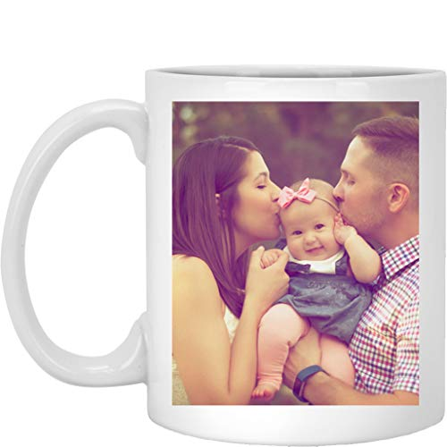 Personalized Coffee Mug for Father Day - Add Your Photo/Logo to Customized Travel, Beer Mug - Great Quality for Gift (White, 11 oz)