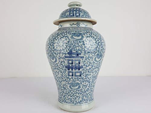 Yajutang Chinesische Porzellan Deckelvase Doppeltes Glück