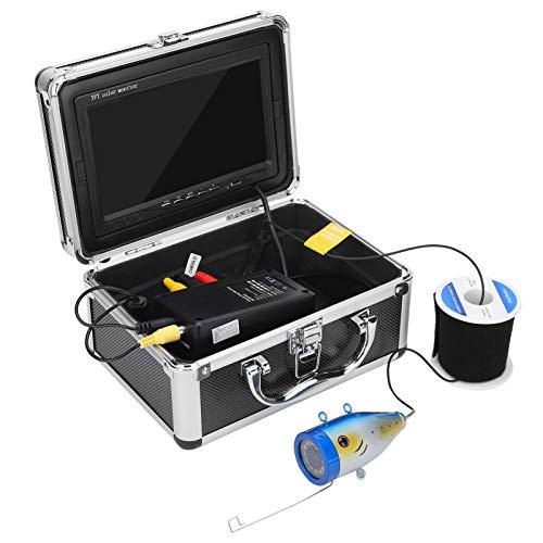 Pwshymi Monitor da Pesca Videocamera da Pesca Subacquea Schermo a Colori HD 1000TVL per esplorazione Subacquea con 12 ad(European regulations)