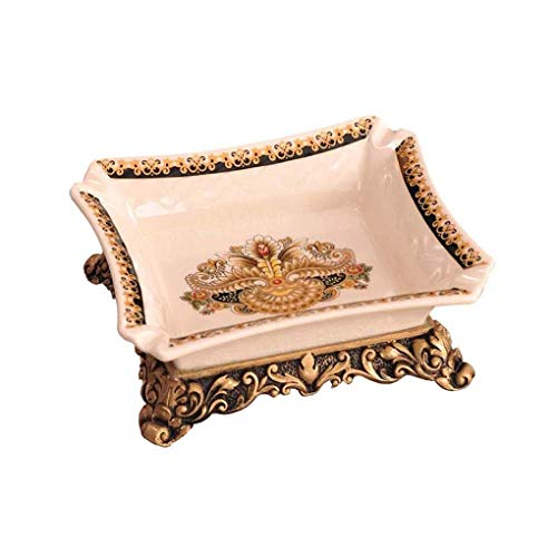 Asbak Europese retro decoratieve asbak hars keramische beker woonkamer crafts decoratie High End Frohe kerstcadeau voor rokers