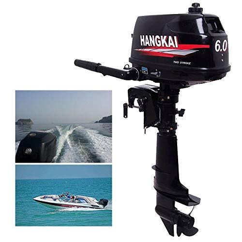 SHIOUCY Außenbordmotor, 6 PS 2-Takt-Marine Außenbordmotor, aufblasbar, Angelboot, Superior Motor, Kurzschaft mit Wasserkühlung, CDI-System