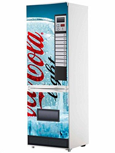 Pegatinas Vinilo para Frigorífico Máquina expendedora Cocacola Azul | Varias Medidas 185x60cm | Adhesivo Resistente y de Fácil Aplicación | Pegatina Adhesiva Decorativa de Diseño Elegante