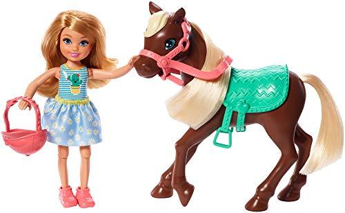 Barbie Chelsea, Muñeca Rubia con Pony y Accesorios (GHV78) , color/modelo surtido