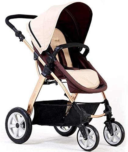 Best Price! GPWDSN Pushchairs and Strollers, Baby High Landscape Can Sit Horizontal Portable Folding...