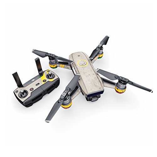 Dystopia Decal for Drone DJI Spark Kit - Includes Drone Skin, Controller Skin and 1 Battery Skin
