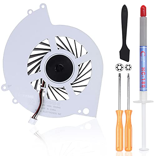 ARLBA New Replacement Internal Cooling Fan KSB0912HE for Sony Playstation 4 PS4 CUH-12XX CUH-1200 CUH-1200AB01 CUH-1200AB02 CUH-1215A CUH-1215B W/ Repair tools ( Screwdrivers T8+T10 & Thermal Grease)