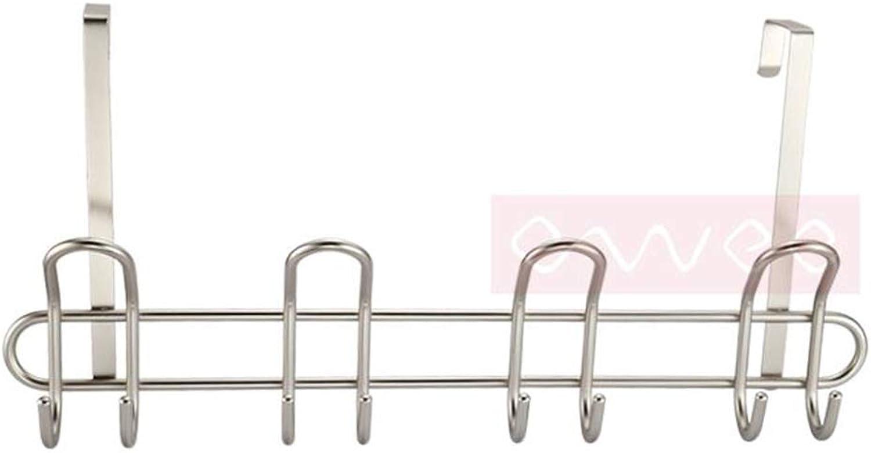 Qi Peng- Coat Rack - Simple and Stylish Coat Hook Bold Carbon Steel Nickel Plated Door Hook   55X27cm @