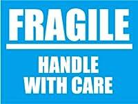SK-057 FRAGILE 荷造りステッカー大 スーツケースや機材ケースに! (BLUE)