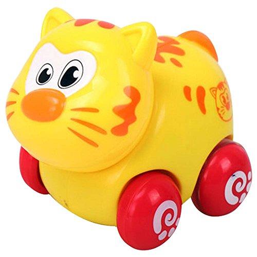 Lot de 2 Cartoon Cat Car Wind-up Toy pour bébé / enfant / enfants (Multicolor)