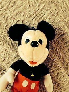 """Hasbro Softies Plush Vintage Mickey Mouse 17"""" Rare"""
