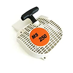 Package Include: 1 * Pull Starter Fits STIHL 021 023 025 MS250 MS230 MS210 #11230801802 Size: As Picture NOTE: Please compare the goods appearance, shape, size with your original goods before ordering,Thank you very much.