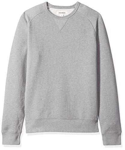 Amazon Brand - Goodthreads Men's Crewneck Fleece Sweatshirt, Grey Heather, Large