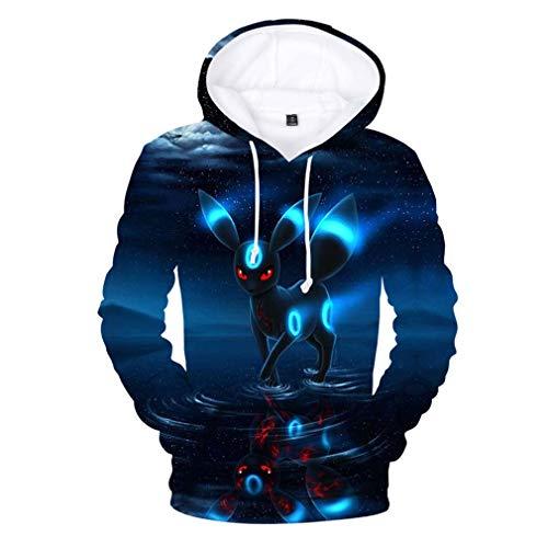 2019 Neue Hoodie Casual 3D Print Hoodies Männer/Frauen Winter Fleece Anime Hoodie Sweatshirt Mode Plus Size Jacke Mantel,A,XXL