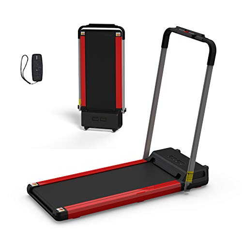 Walking Treadmill, Under Desk Electric Treadmill, 12 Preset Programs Perfect for Home/Office Use (red)
