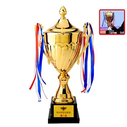 Trophies Children's Championship Custom Metal Match School Sports Covered (Color : Gold, Size : 43 * 17cm)