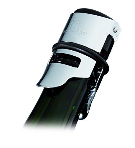 Westmark Sektflaschenverschließer, Verchromter Stahl/Gummi, Vermo, Silber, 6012556C