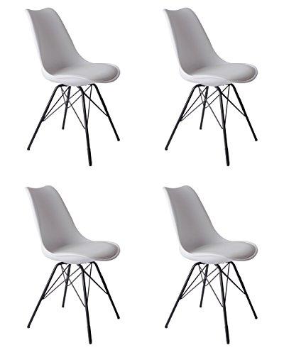 Sillas De Comedor Blancas Y Metal sillas de comedor blancas  Marca SAM