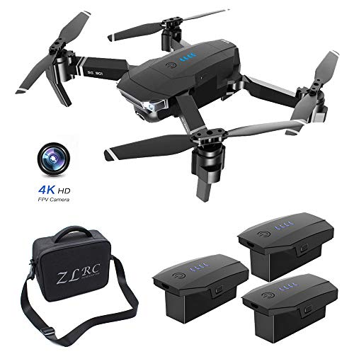 SMUOO HD Camera Drone,4K FPV Real-Time Video Portable Drone,Auto Return Home, Follow Me, Long Control Range, One Button Take Off/Landing,Includes Carrying Bag,Best Gift,3 Batteries