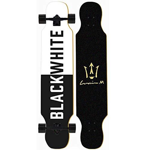 LJHBC Skateboard Kompletter Kreuzer Geeignet for Kinder/Jungen Mädchen/Jugendliche 41 X 9,25 Zoll Freestyle Longboard Ahorn Deck Tragende 440 Pfund (Color : Snow Wolf King)