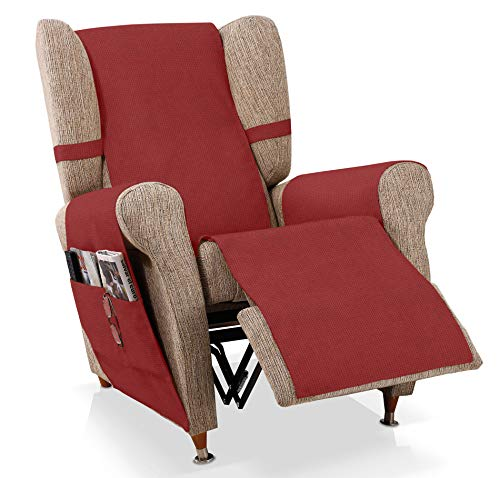 JM Textil Sesselschoner Relax GEA Größe 1 Sitzer (55 cm), Farbe Rot