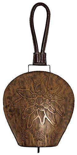 AUBRY GASPARD Cloche Edelweiss en métal cuivré 27 cm