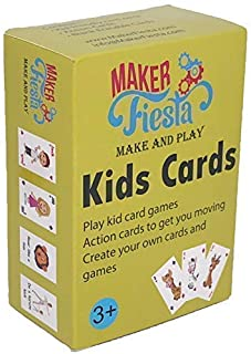 Maker Fiesta Kids Cards - Old Maid, Go Fish, Math Facts Games and Create Your own Games Using 32 Blank erasable Cards with 1 Deck. Ages 3 to 13