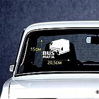 車用ステッカー・デカール マフィアの車の車の車のステッカー面白い車のステッカーガラスステッカー15x20.5cm BJRHFN (Color : White)