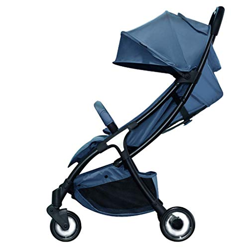 WJY Cart,Dining Car Medical Cart Diner Baby Stroller Baby Umbrella Can Sit and Lay Light Folding Ultra Light Small Children'S Trolley Baby Cart,D