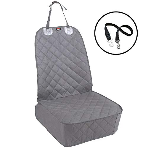 HONEST OUTFITTERS Dog Car Seat Covers, Pet Front Cover for Cars, Trucks, and Suvs - Waterproof & Nonslip Dog Seat Cover(Gray)