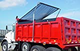 Kym Industries Electric Aluminum 4-Spring Dump Truck Tarp System with MESH TARP for Beds Up to 24' and 110' Wide. (Black Mesh, 7' x 18')