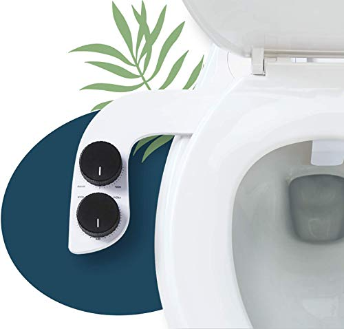 Spritz Warm Water Bidet Attachment (Silver) – Non-Electric Bidet Toilet Sprayer – Hot and Cold Bidet Sprayer for Toilet – Self-Cleaning Bidet – Warm and Cold Water