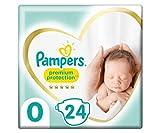 Pampers Premium Protection Größe 0, 24 Windeln, Pampers Weichster Komfort Und Schutz,