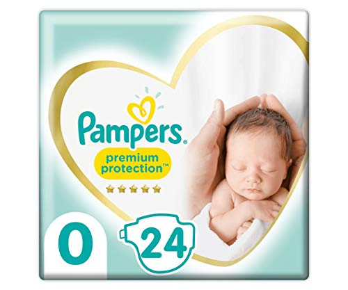 Pampers Premium Protection Größe 0, 24 Windeln, Pampers Weichster Komfort Und Schutz, <3kg
