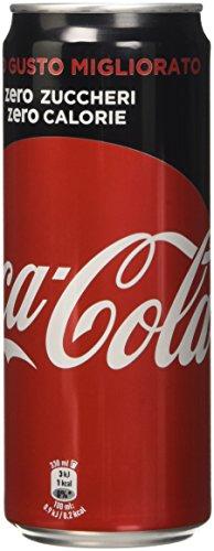 Coca Cola Zero - Bevanda Analcolica Senza Calorie, 330 ml [confezione da 24]