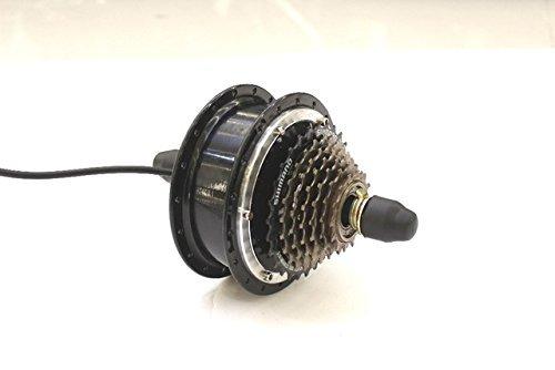 HYLH Alta Velocidad 48V 250W Ebike Brushless Gearless Mini Hub Motor Rueda Trasera Motor Support 7 Speed Disc Brake