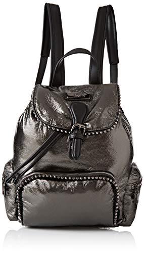 XTI Damen 86133 Rucksack Tasche, Schwarz (Plomo), 23x30x12 centimeters