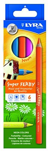 LYRA 4084900451328 Super Ferby Neon Kartonetui mit 6 Farbstiften, Sortiert