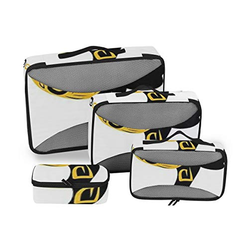 Afro Decor 4pcs Toiletry Bag Travel Cosmetic Organizer,Hanging Toiletry Kit for Women and Men