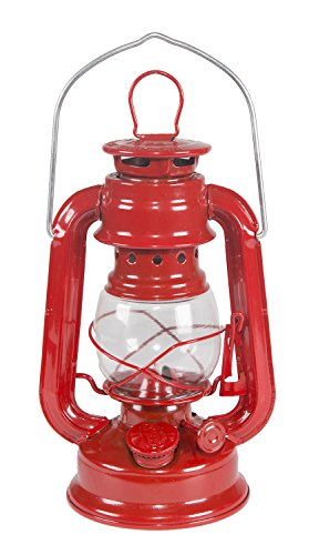 Stansport Small Hurricane Lantern (Red, 8-Inch)