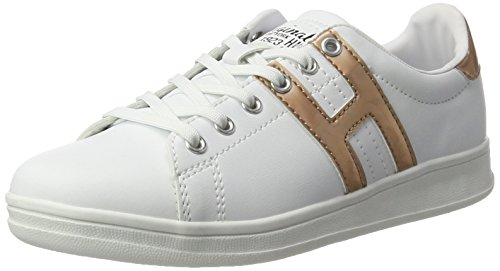 H.I.S Damen 16MCB002 Sneakers, Weiß (White/Bronce), 40 EU