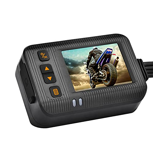 yahede Motorfiets camera motorfiets Dash Cam 1080P Dual Lens Video Recorder Motorfiets Cover Sport Action Camera LCD-scherm Good
