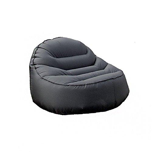 Yjsofa opblaasbare outdoor vrije tijd bank enkele zits draagbare slaapzak zwart