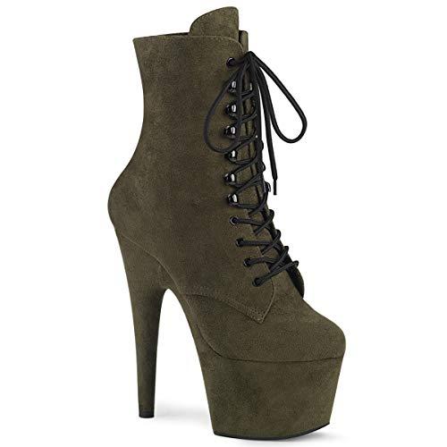 Pleaser Ankle Boots Adore-1020FS, Extreme High Heels Stiefeletten 38 Grün