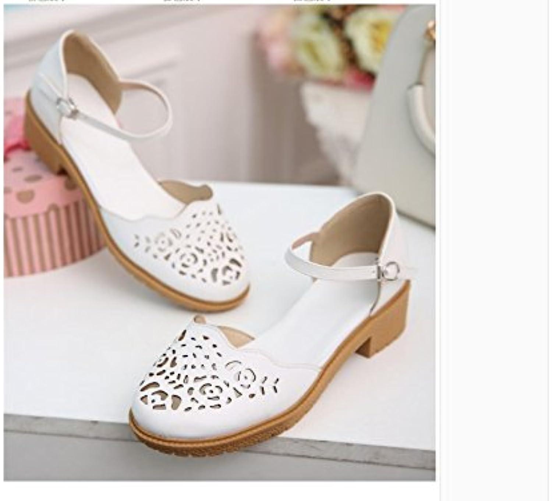WHW Women's flat heel Transparent Heel Wedges Heels Peep Toe Heels Outdoor sandals,41,white