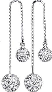 Crystal Ball 925 SilverDnagle Earrings for Women - Gift Jewelry