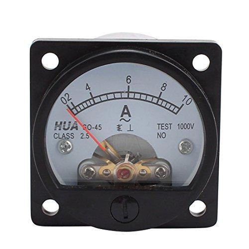 Klasse 2,5Genauigkeit AC 0–10A Runde Analog Panel Meter Amperemeter schwarz de