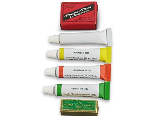 6 x Rasiermesser Schleifpaste Streichriemen-Paste SET aus Solingen